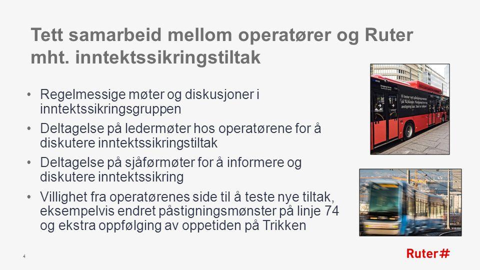 Tett samarbeid mellom operatører og Ruter mht.