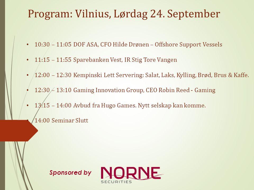 Presentations at Hotel Kempinski Vilnius