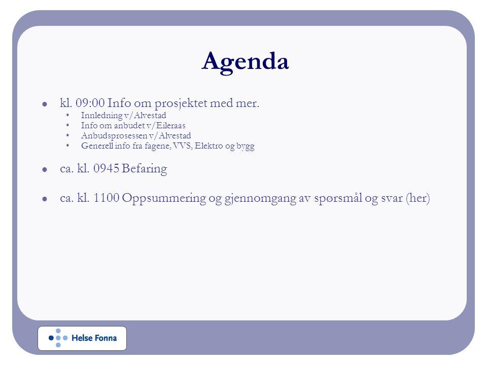 kl. 09:00 Info om prosjektet med mer.