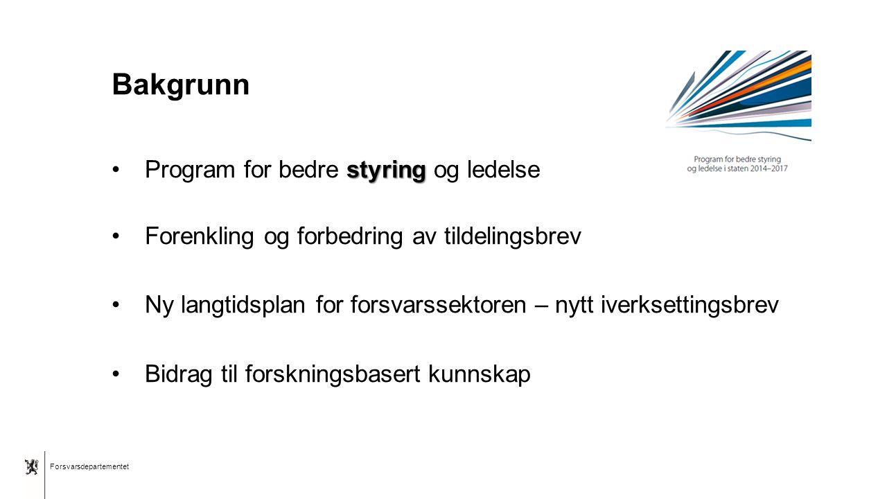 """Forsvarsdepartementet Norsk mal: Tekst uten kulepunkter Tips bunntekst: For å få sidenummer, dato og tittel på presentasjon: Klikk på """"Sett Inn"""" -> To"""