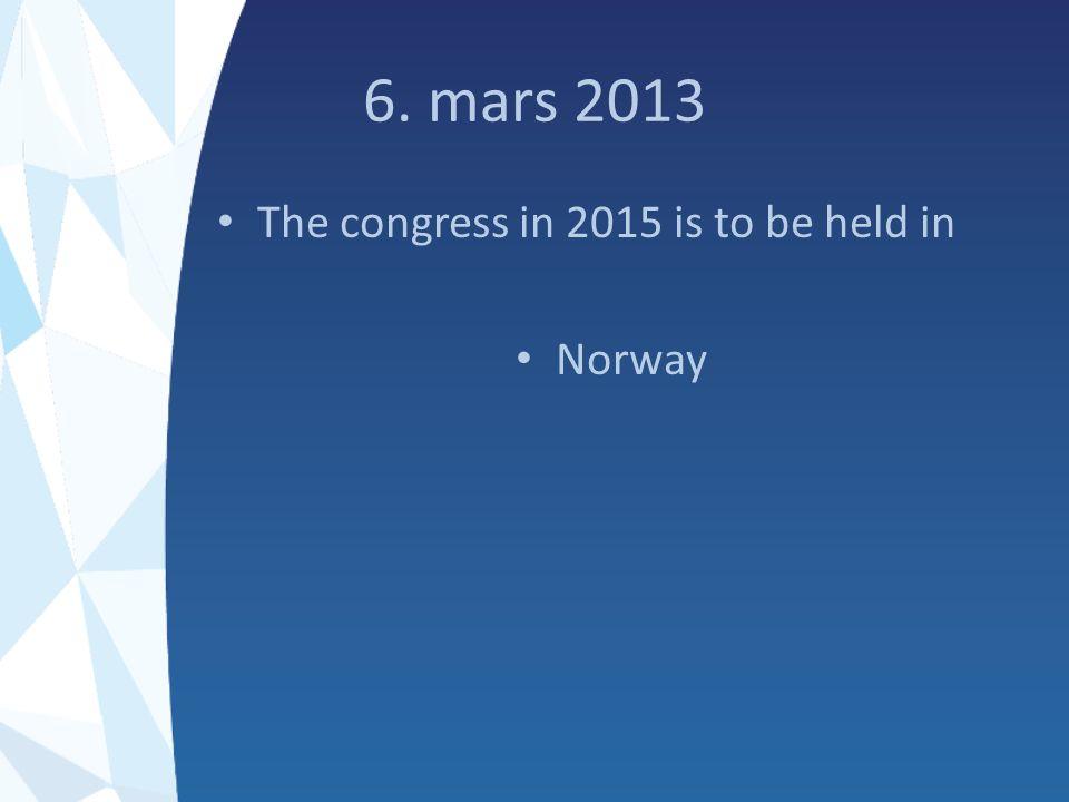 Innen 10 desember 2013 Navn på kontaktpersonen sendes til nholand@online.no Ideer til vertskapsrolle og arrangement sendes kontinuerlig til samme adresse
