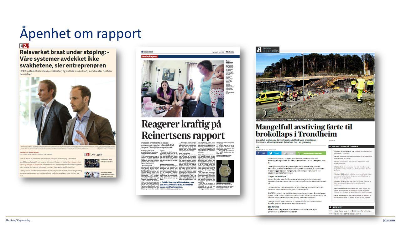 Åpenhet om rapport 10