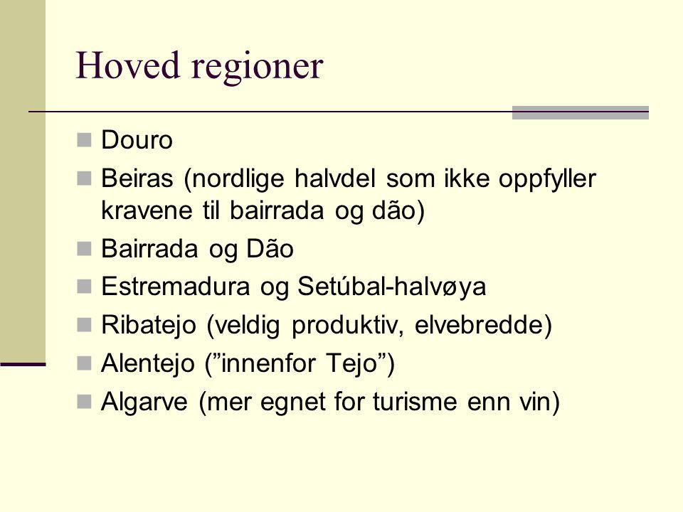 Kvalitetsbetegnelser Portugals DOC-system er basert på det franske systemet med appellations contrôlèes og fastsetter hvilke lokale druesorter som er tillatt.