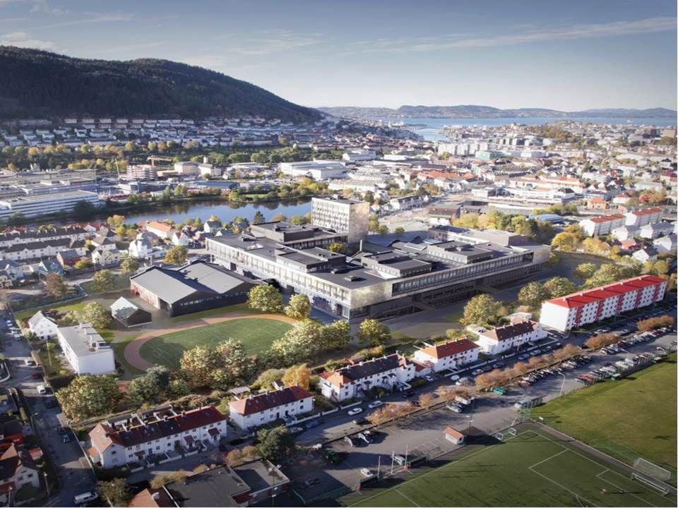 Den nye Høgskolen i Bergen, Kronstad 4 400 studenter og 500 tilsette på samme tid.