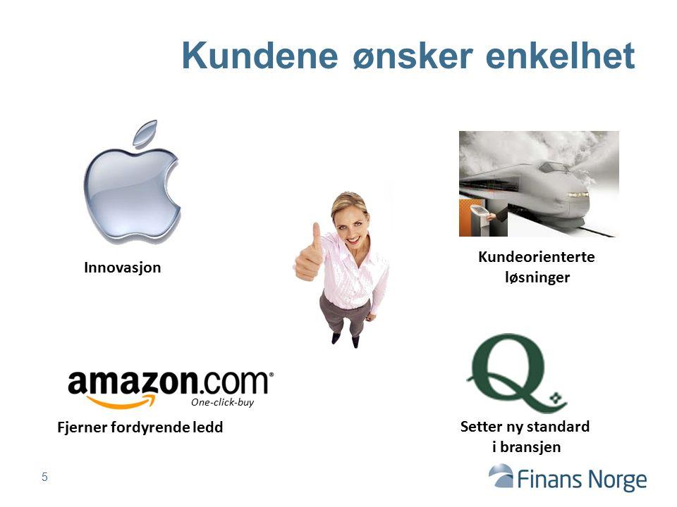 Kundene ønsker enkelhet One-click-buy Fjerner fordyrende ledd Kundeorienterte løsninger Setter ny standard i bransjen Innovasjon 5