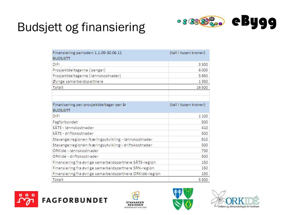 eBygg Budsjett og finansiering
