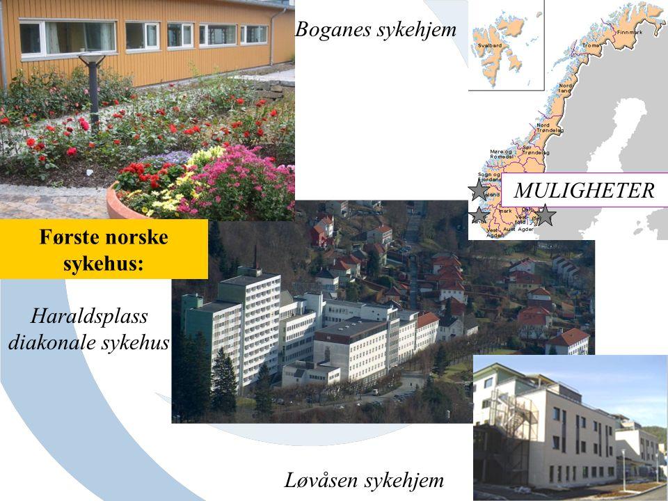 Boganes sykehjem Haraldsplass diakonale sykehus Løvåsen sykehjem MULIGHETER Første norske sykehus: