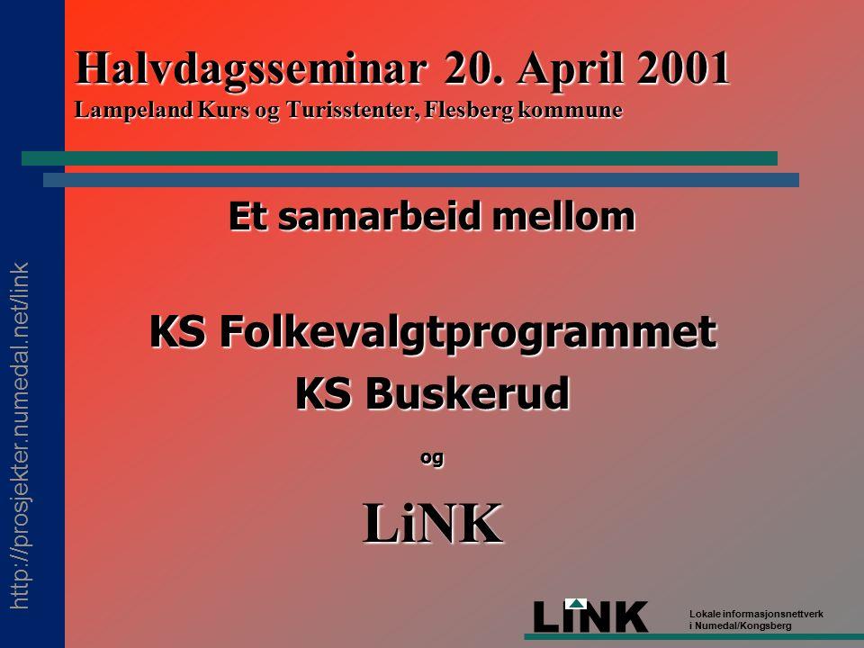 http://prosjekter.numedal.net/link LINK Lokale informasjonsnettverk i Numedal/Kongsberg Halvdagsseminar 20.