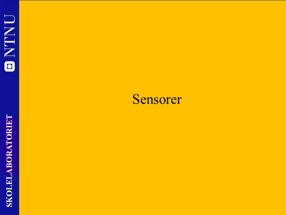 2 SKOLELABORATORIET Nils Kr. Rossing 24.09.14 www.skolelab.ntnu.no/ Sensorer