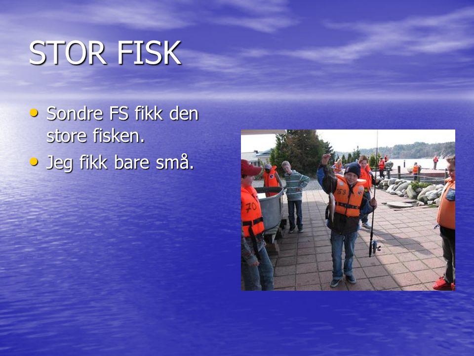STOR FISK Sondre FS fikk den store fisken. Sondre FS fikk den store fisken.