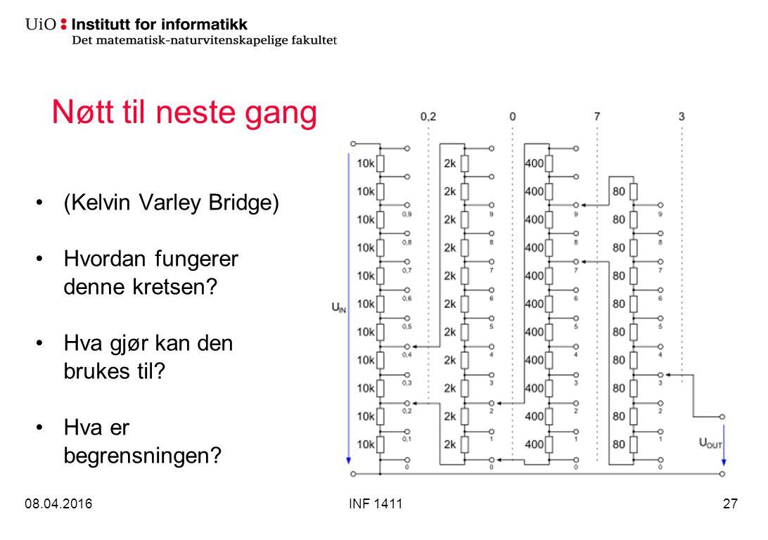 Nøtt til neste gang (Kelvin Varley Bridge) Hvordan fungerer denne kretsen.