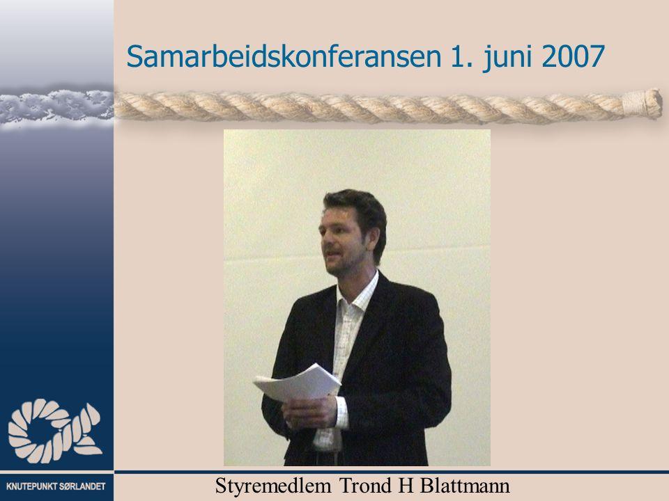 Samarbeidskonferansen 1. juni 2007 Styremedlem Trond H Blattmann