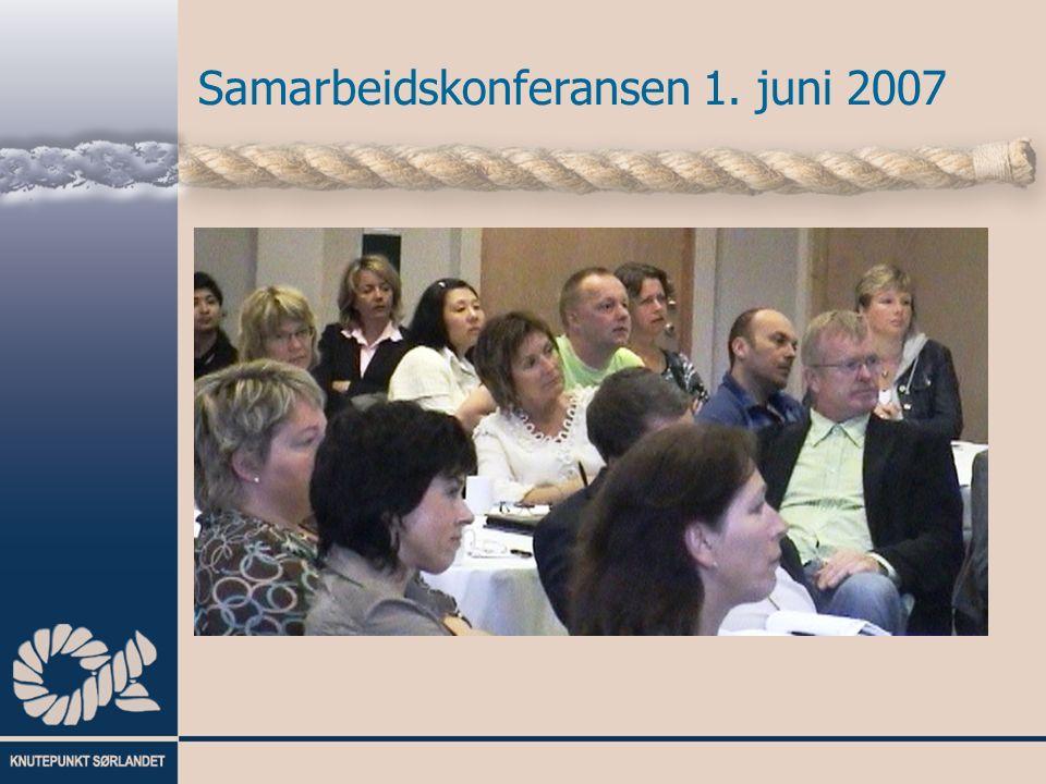 Samarbeidskonferansen 1. juni 2007 Prosjektleder IT prosjektet Arild Sandnes