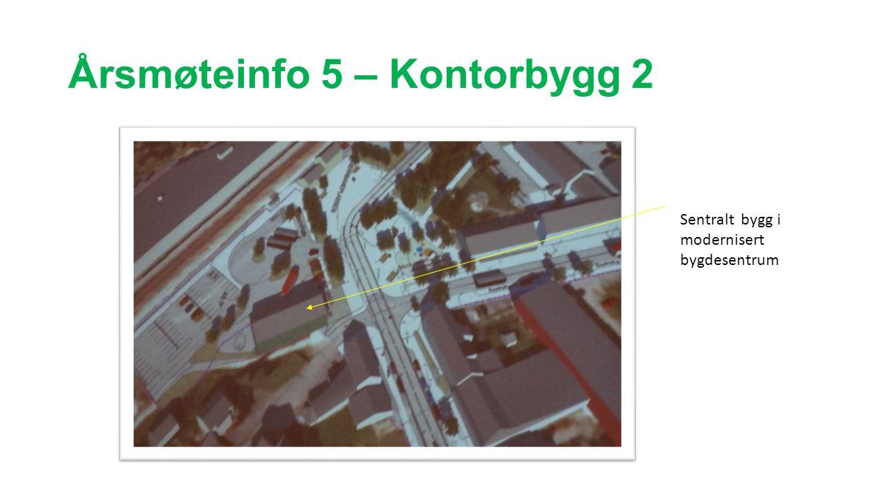 Årsmøteinfo 5 – Kontorbygg 2 Sentralt bygg i modernisert bygdesentrum