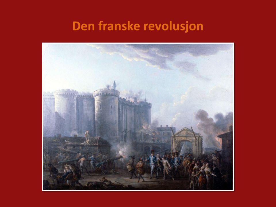 På 1780-tallet var det stor misnøye i den franske befolkningen.