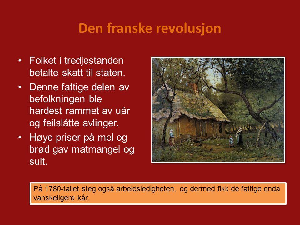 Den franske revolusjon Blant handelsmenn og forretningsfolk var også misnøyen stor.