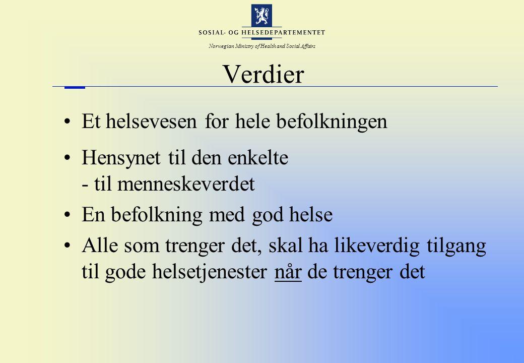 Norwegian Ministry of Health and Social Affairs Fremtidig organisering