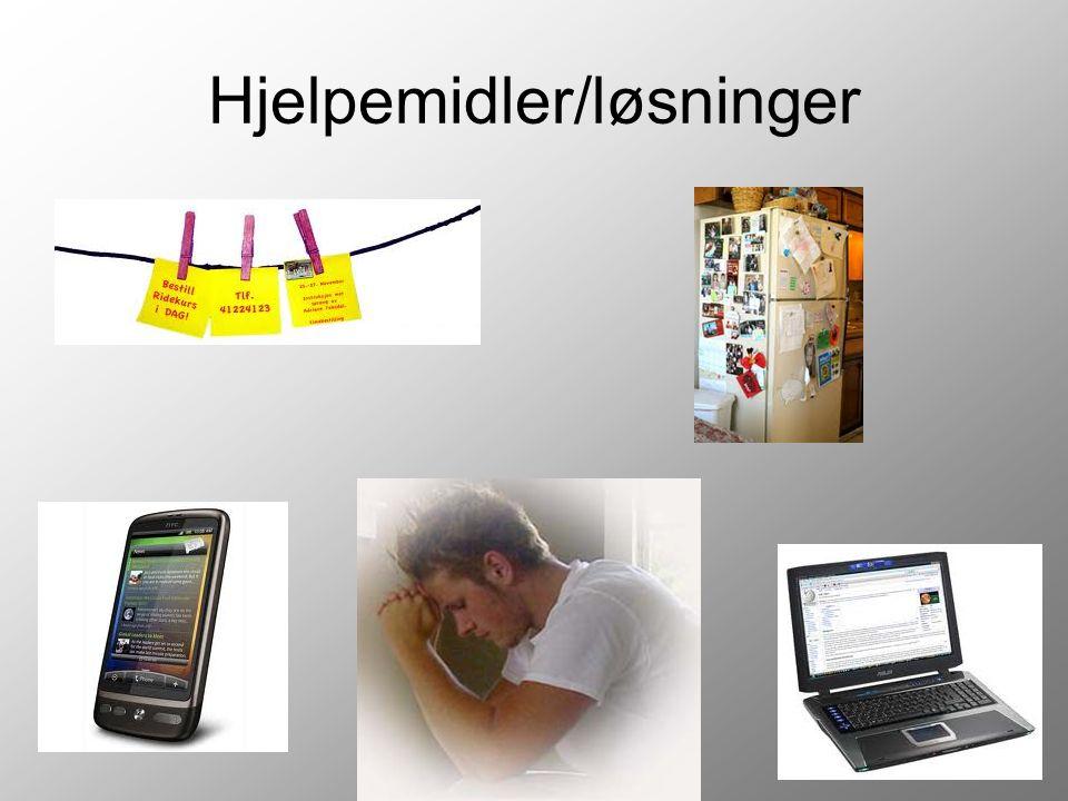 Hjelpemidler/løsninger