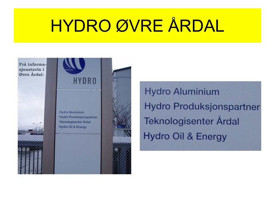 HYDRO ØVRE ÅRDAL