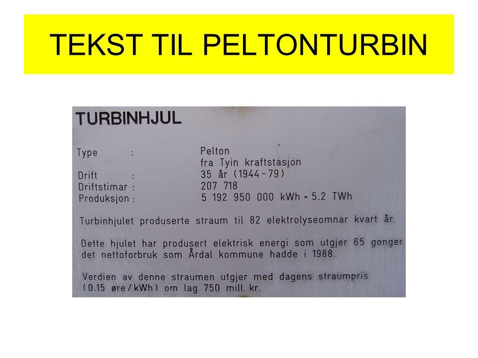 TEKST TIL PELTONTURBIN