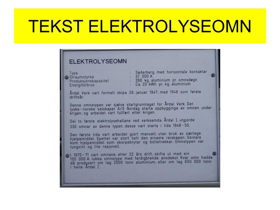 TEKST ELEKTROLYSEOMN