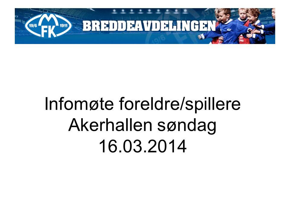 Infomøte foreldre/spillere Akerhallen søndag 16.03.2014