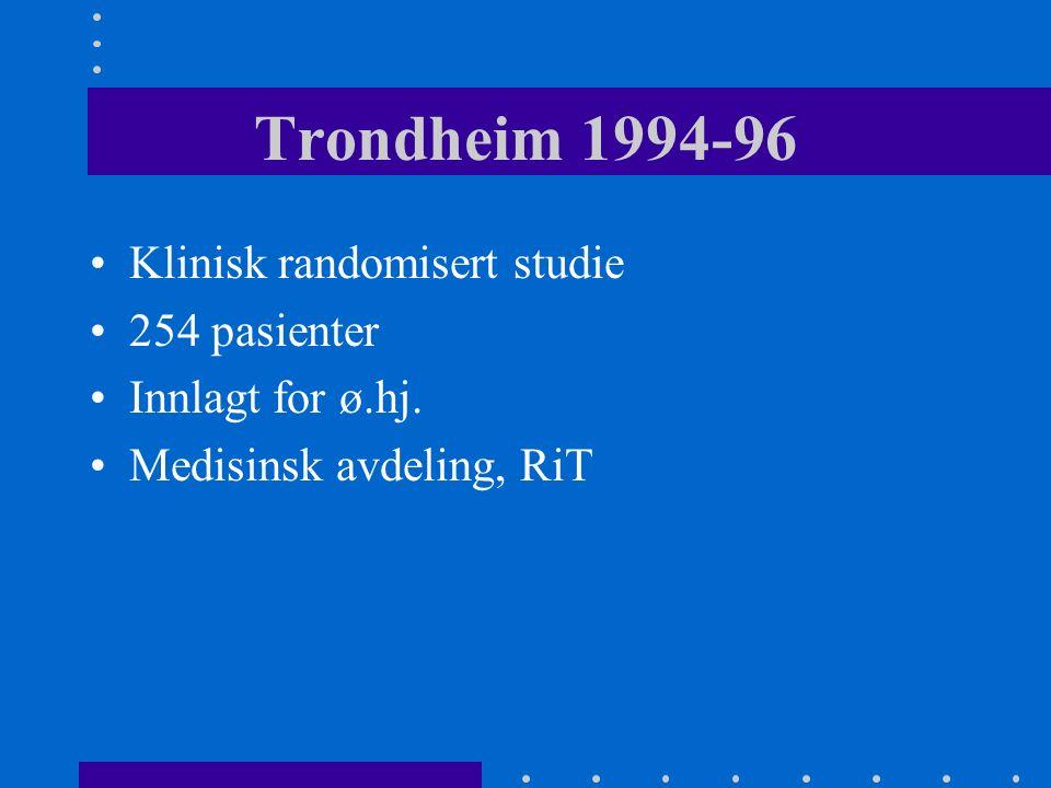 Geriatri i sykehus-nytter det Trondheimsstudien 1994-96