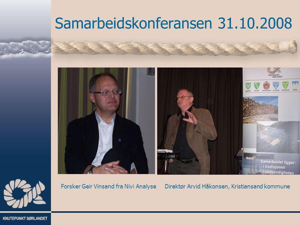 Forsker Geir Vinsand fra Nivi AnalyseDirektør Arvid Håkonsen, Kristiansand kommune
