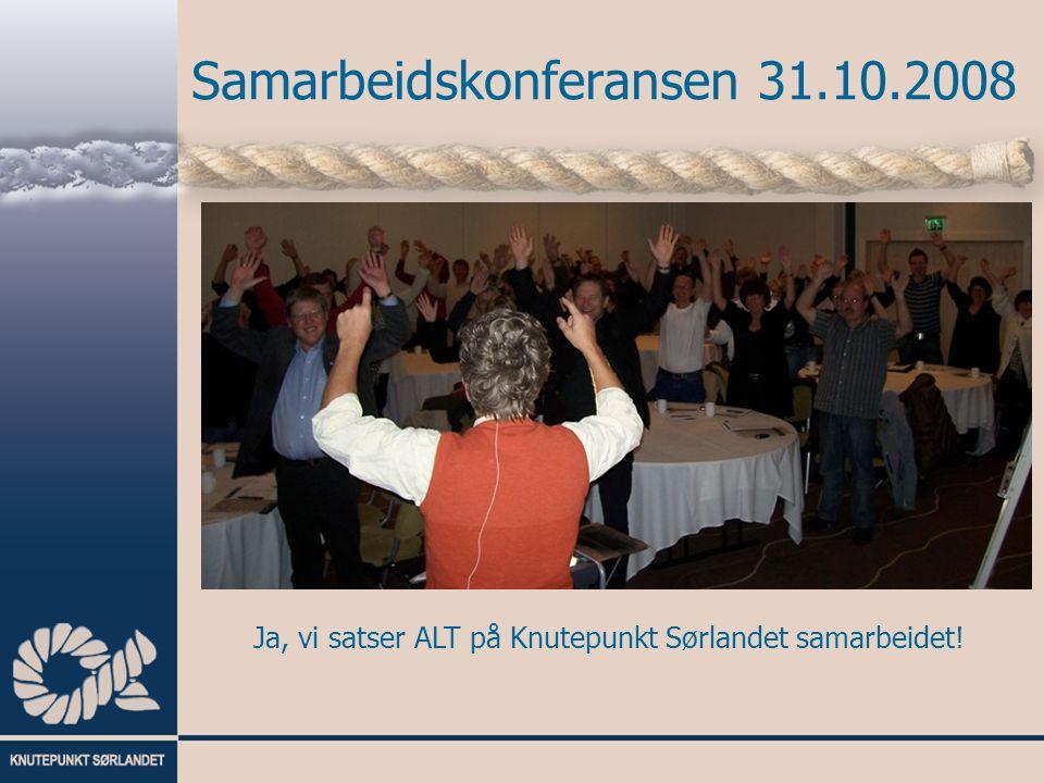 Samarbeidskonferansen 31.10.2008 Ordfører i Songdalen kommune og politisk nestleder i Knutepunkt Sørlandet samarbeidet Johnny Greibesland åpner konferansen.