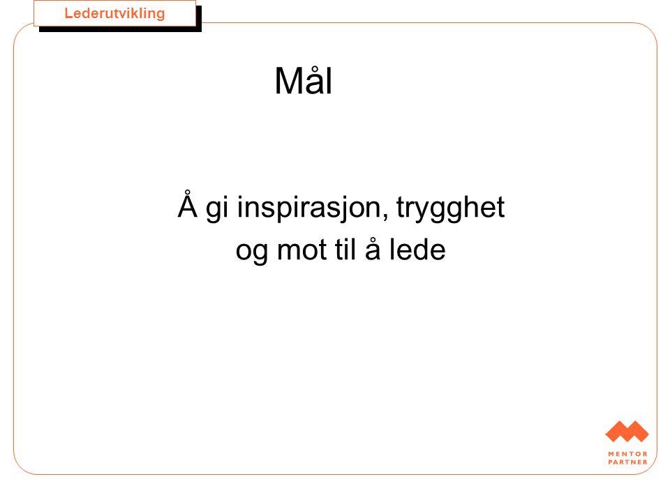 Lederutvikling Mentor Partner Dag Nordbø dag.nordbo@mentorpartner.no Mobil 982 13 006 dag.nordbo@mentorpartner.no Anne Hilde Hals anne.hilde.hals@mentorpartner.no Mobil 982 13 005 anne.hilde.hals@mentorpartner.no www.mentorpartner.no