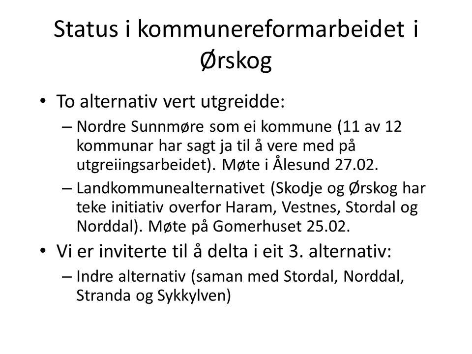 Status i kommunereformarbeidet i Ørskog