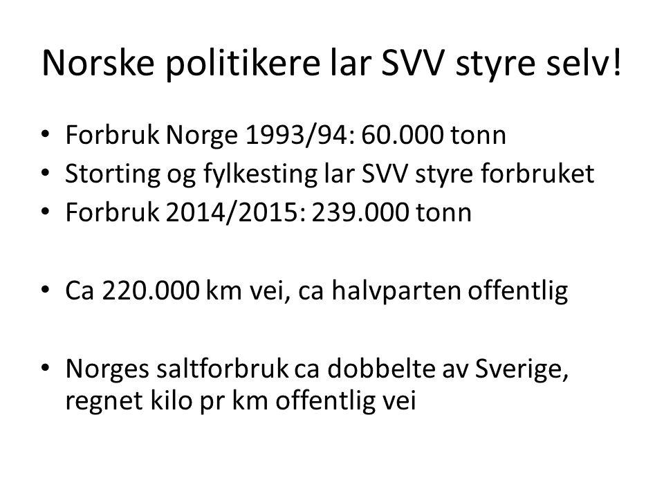 Norske politikere lar SVV styre selv.