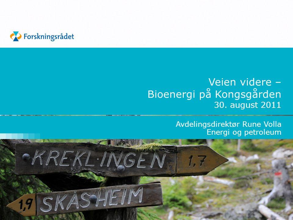 Veien videre – Bioenergi på Kongsgården 30.