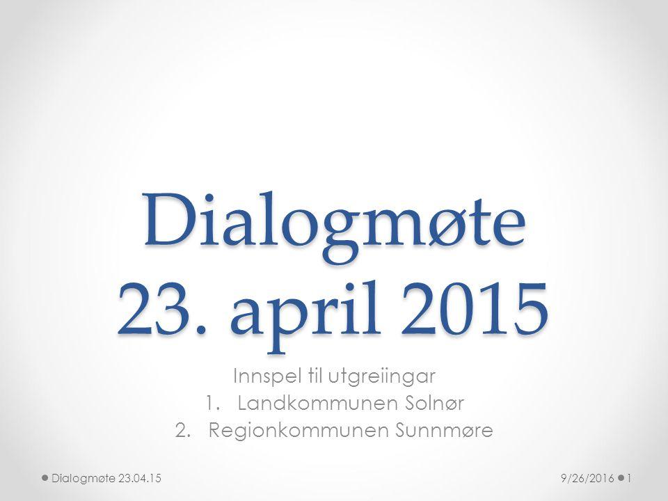 Dialogmøte 23.