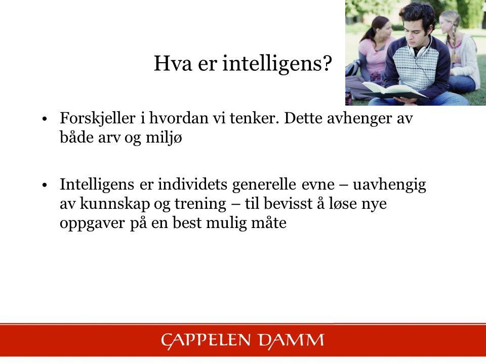 Hva er intelligens. Forskjeller i hvordan vi tenker.