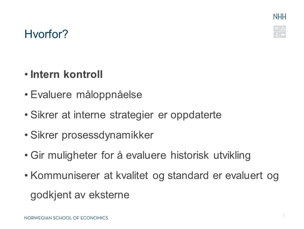 Prosessen 6 SøknadEgenvurdering Komitebesøk Avgjørelse HøstenMars September - februar Mai