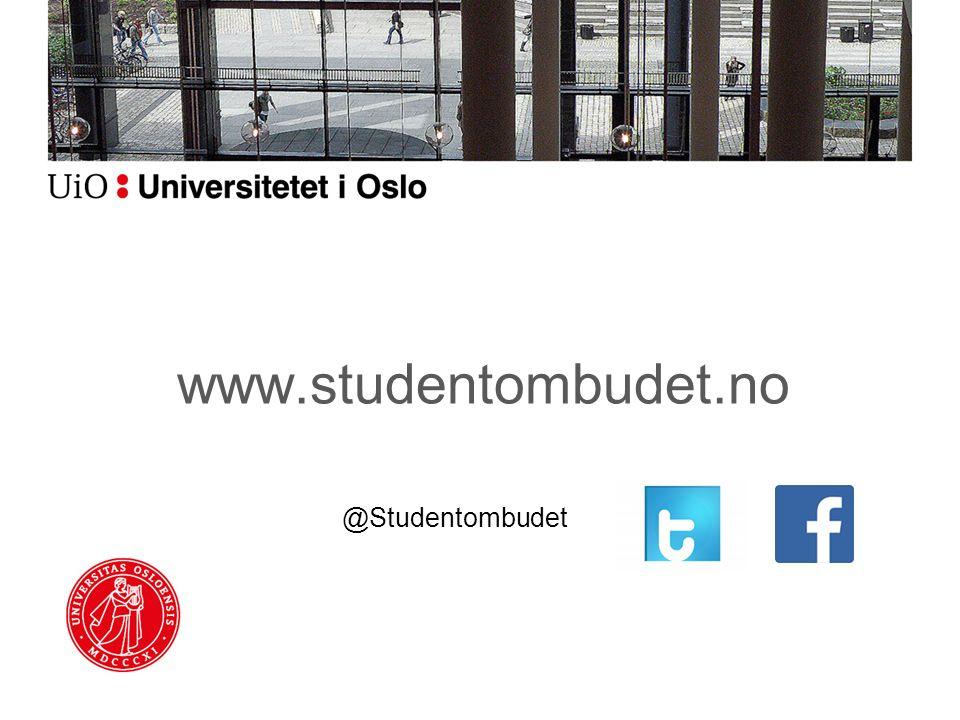 www.studentombudet.no @Studentombudet
