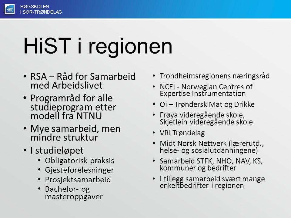 HØGSKOLEN I SØR-TRØNDELAG Praksis på HiST 34.147 praksisuker (727 årsverk) 4200 studenter (Helse/sosial, lærer/tolk, mat/bygg)