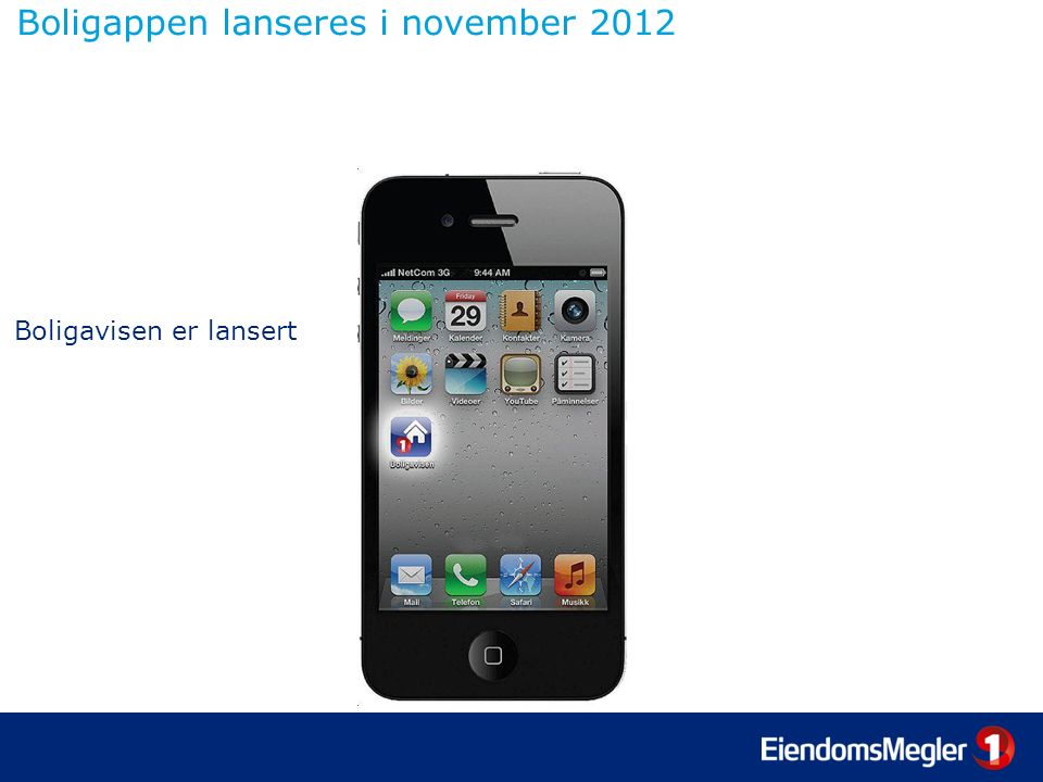 Boligappen lanseres i november 2012 Boligavisen er lansert