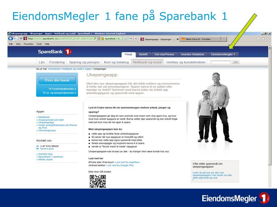 EiendomsMegler 1 fane på Sparebank 1