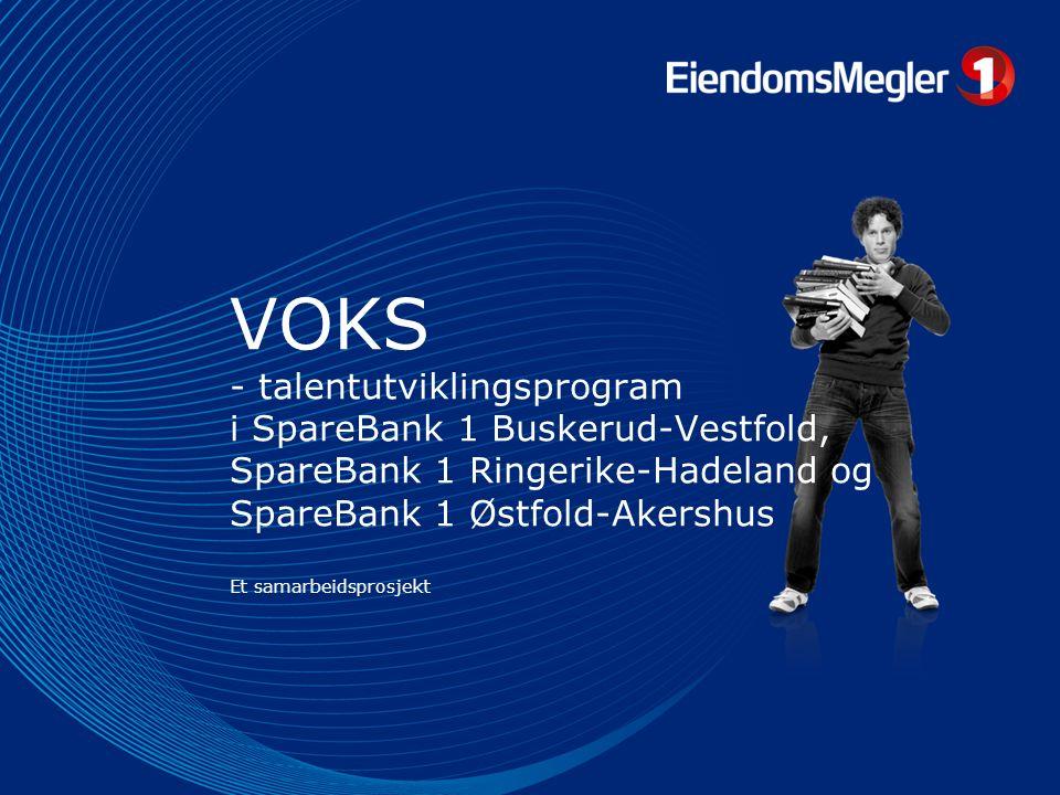 VOKS - talentutviklingsprogram i SpareBank 1 Buskerud-Vestfold, SpareBank 1 Ringerike-Hadeland og SpareBank 1 Østfold-Akershus Et samarbeidsprosjekt