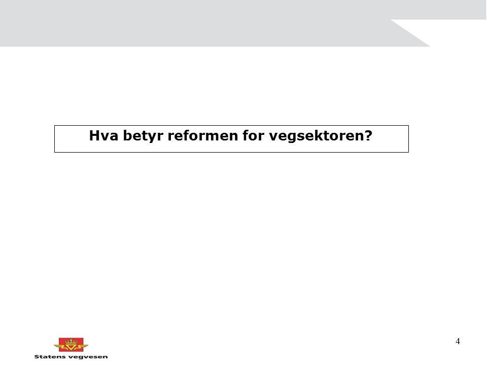 4 Hva betyr reformen for vegsektoren?