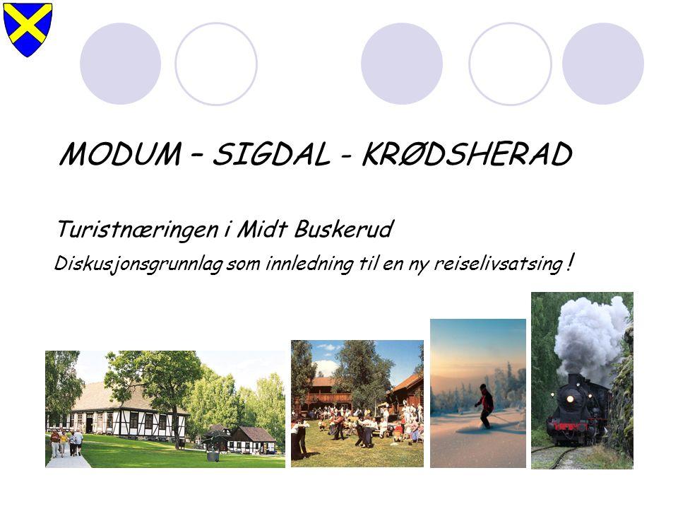 MODUM – SIGDAL - KRØDSHERAD Turistnæringen i Midt Buskerud Diskusjonsgrunnlag som innledning til en ny reiselivsatsing !