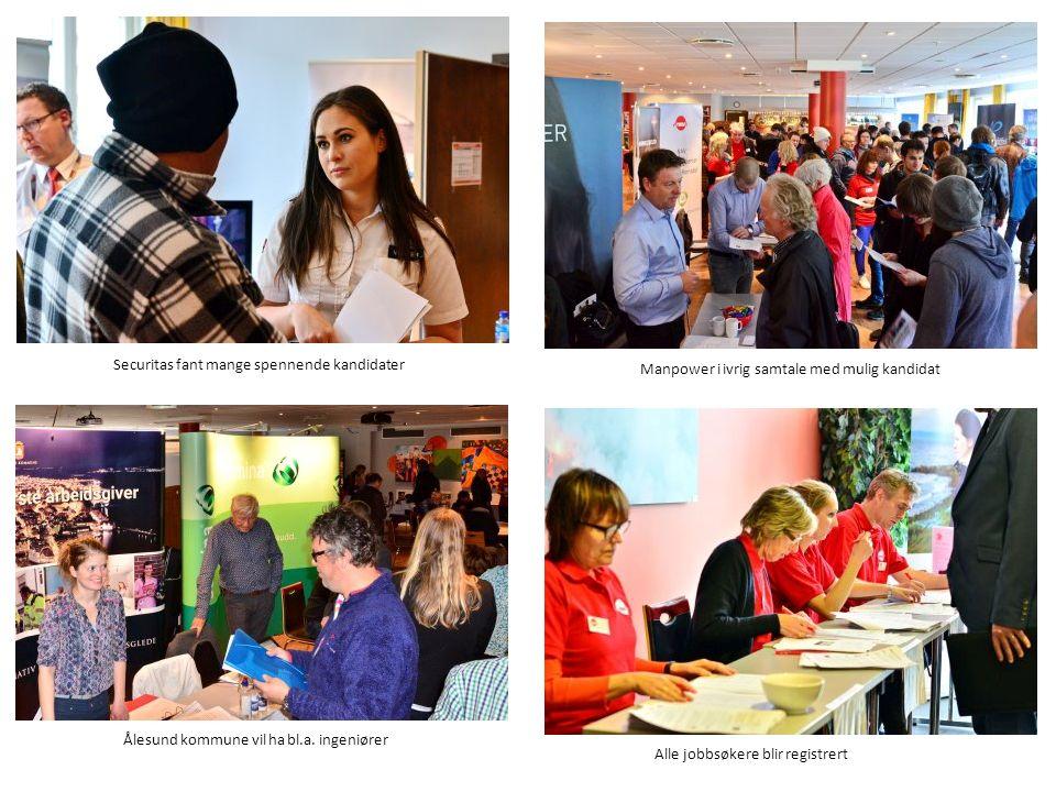 Securitas fant mange spennende kandidater Manpower i ivrig samtale med mulig kandidat Ålesund kommune vil ha bl.a.