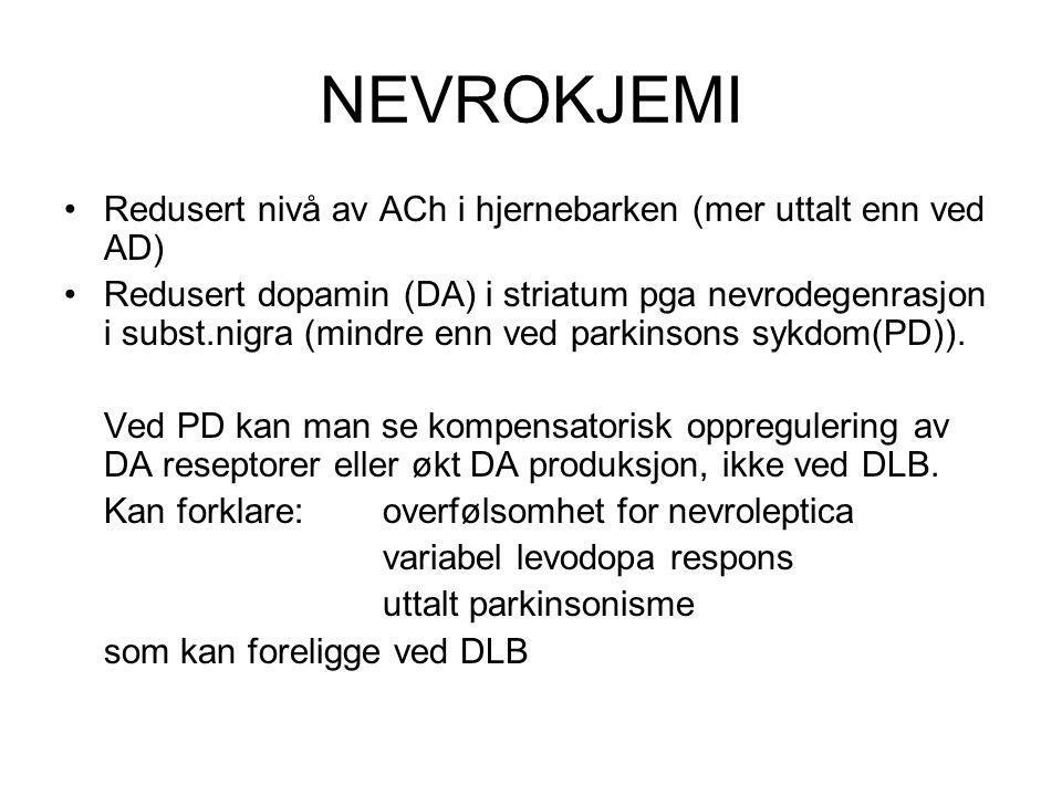 DIFFERENSIALDIAGNOSER MANGE .DLB, PD, og AD har mange kliniske og patologiske likhetstrekk.