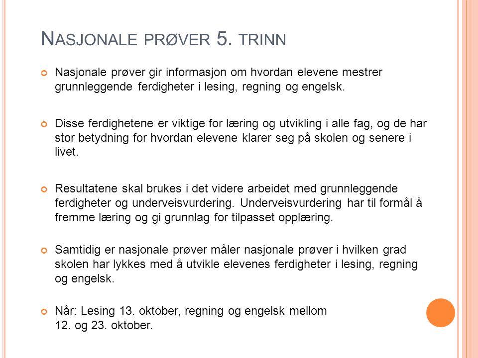 N ASJONALE PRØVER 5.