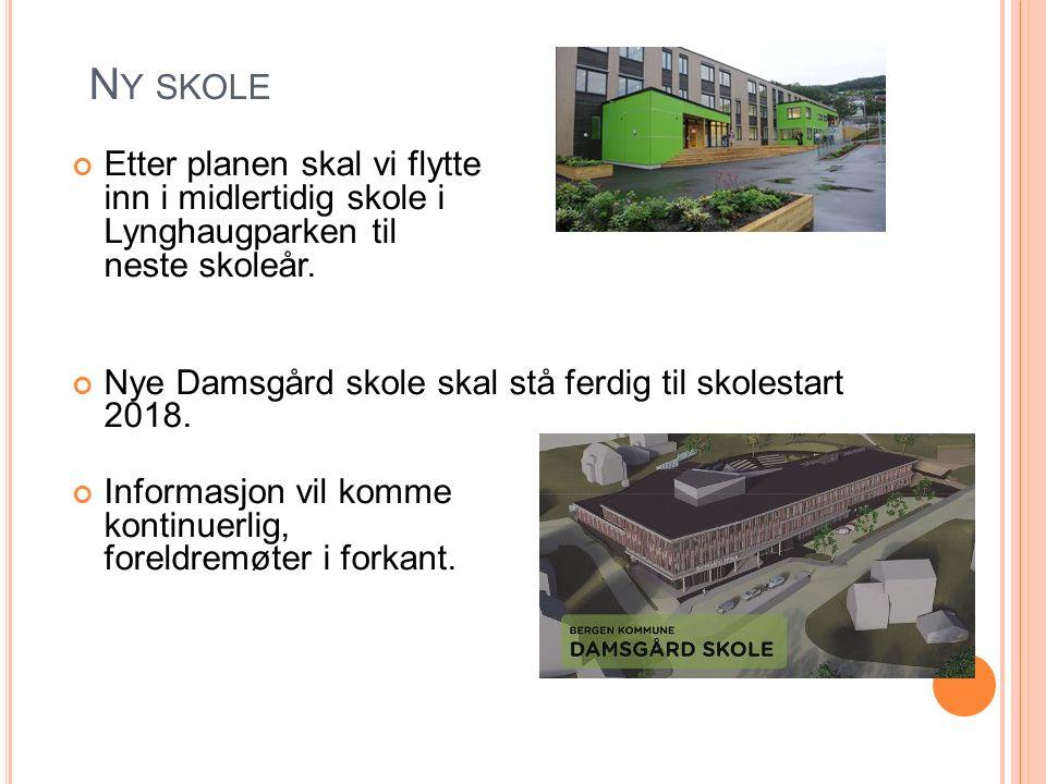 N Y SKOLE Etter planen skal vi flytte inn i midlertidig skole i Lynghaugparken til neste skoleår.