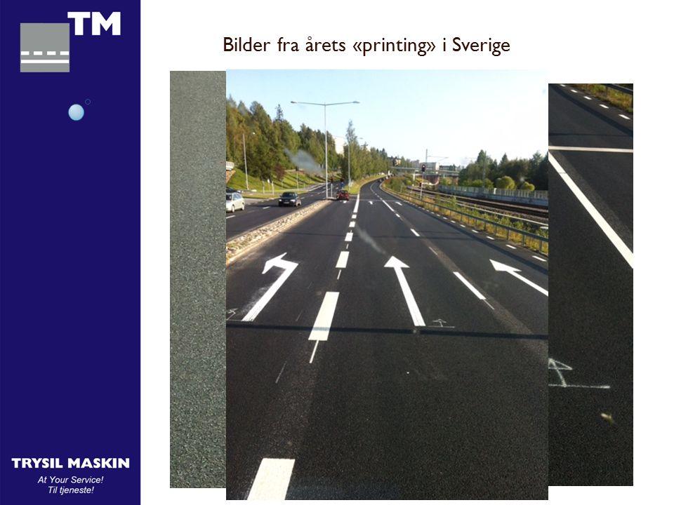 Bilder fra årets «printing» i Sverige