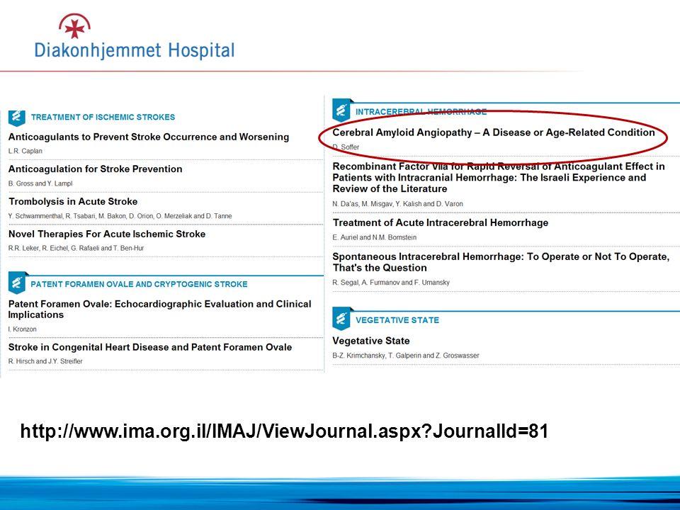 http://www.ima.org.il/IMAJ/ViewJournal.aspx JournalId=81