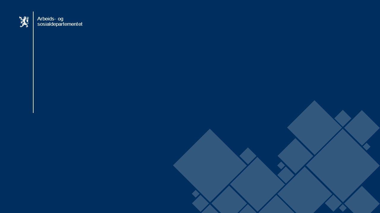 Arbeids- og sosialdepartementet Norsk mal: Startside BLÅ Arbeids- og sosialdepartementet